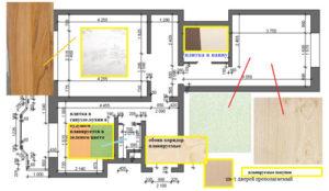 Цветовая план-схема квартиры