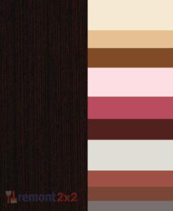 сочетание цвета венге в интерьере