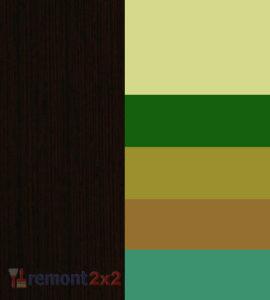 сочетание цвета венге с оливковым